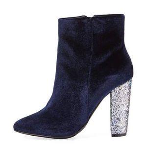 2bb6628c3e7a Neiman Marcus Shoes - Neiman Marcus Bucasi Velvet Glitter Bootie